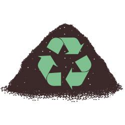 Sustrato reciclado